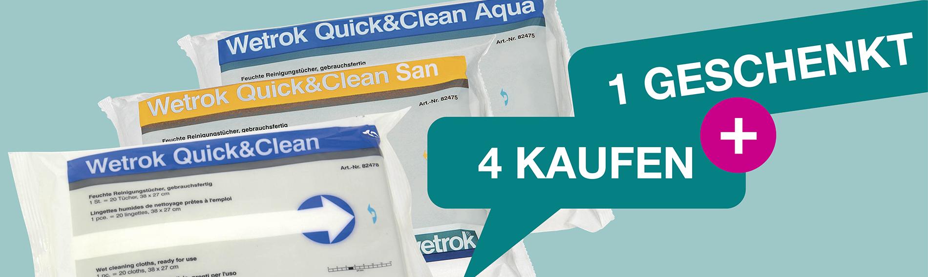 Quick & Clean: 4 KAUFEN, 1 GESCHENKT